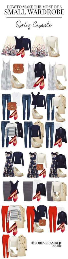 how to make the most of a small wardrobe: sample capsule wardrobe for spring #dressescasual