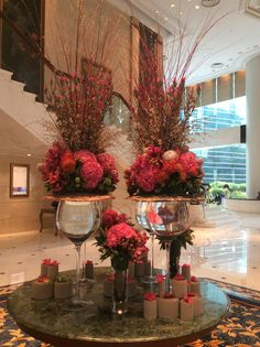 Lobby flowers at Island Shangri-la, Hong Kong
