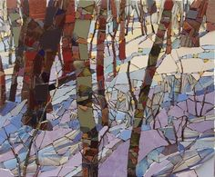 Lavender Snow from Ski Trails - Sharon Loeppky
