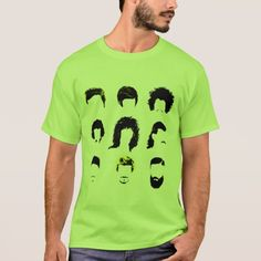 The evolution of male hairstyles over the years & decades. It ranges from the 50s rockabilly pompadour, to the 60s bowl haircut, and the afro, the 80s hair band hairstyle and 90s hip hop flat top. The 2000s kicked off the the fawhawk leaving behind the early 90s mullet, and now we have the bearded man with a long beard and sometimes a man bun on his head. These are silhouettes of the hairstyles over the decades, like a fashion blast from the past, a trip down memory lane of styles.