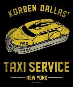 Korben Dallas Servicio de Taxi Con Tragaluz con forma de persona incluido.