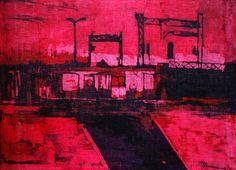 "Saatchi Art Artist Marta Zamarska; Painting, ""A Railway Nocturne I"" #art"