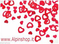 Confetti CUORI rossi metal Matrimonio party amore festa decorazione coriandoli