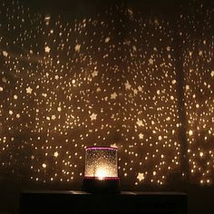 Starry Night Sky Projector Colorful LED Night Light (AC/3xAA) - USD $ 9.99
