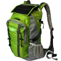 Here's a handy piece of gear to take with you anywhere. This Solar Charge Backpack Bag comes with a 2.2W portable flexible amorphous silicon solar panel attached and a 5,200 mAh lithium-ion battery included.  There's also a