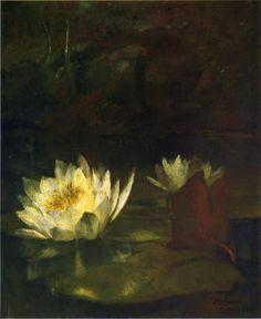 John La Farge (American, 1855-1910) The Last Water Lilies, 1862