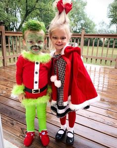 Little Girl Halloween Costumes, Twin Halloween, Halloween Costume Contest, Halloween Outfits, Grinch Halloween, Halloween Party, Christmas Costumes, Halloween Horror, Halloween Nails