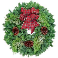 Plaid Bow Traditional   Lynch Creek Wreaths