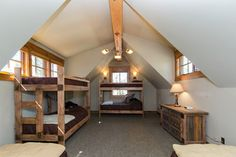 tahoe interior design bunk room | save to ideabook email photo