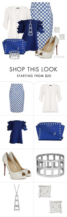 """checker skirt contest"" by leeann829 ❤ liked on Polyvore featuring Jonathan Saunders, WearAll, MICHAEL Michael Kors, Christian Louboutin and Worthington"