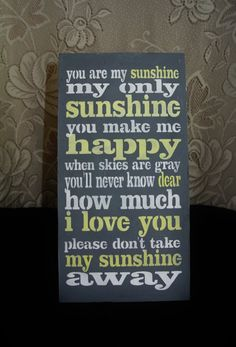 Wood Sign You are my sunshine Baby Shower by FairytaleDecorDesign, $15.00