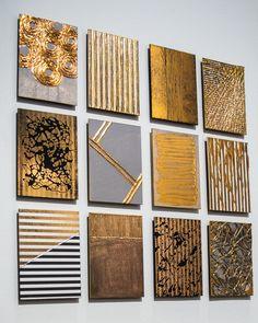 Original artwork by M. Diy Canvas Art, Diy Wall Art, Diy Wall Decor, Diy Art, Gold Canvas, Bild Gold, Copper Artwork, Islamic Art Calligraphy, Resin Art