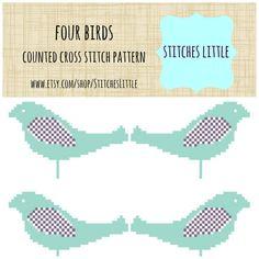 Retro Modern Cross Stitch Pattern  Retro Cross by StitchesLittle, $3.00