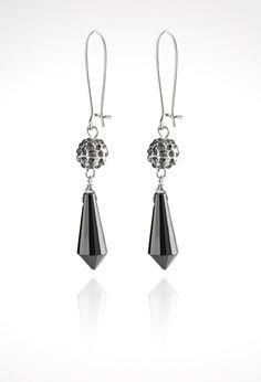 Fireball Faceted Wire Drop Earrings