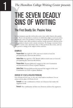 Seven Sins of Writing - Home - Hamilton College