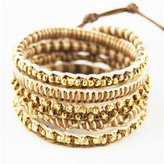 Chan Luu Gold hemp Wrap bracelet