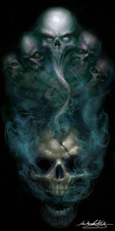 skull art black and white Skull Tattoo Design, Skull Tattoos, Body Art Tattoos, Sleeve Tattoos, Arte Horror, Horror Art, Dark Fantasy Art, Dark Art, Totenkopf Tattoos