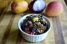 This Black Bean Mango Peach Salsa was the clear recipe winner this week. The earthy beans are contrasted by sweet fruit and crunchy vegetables. It's delicious and makes enough for a crowd.