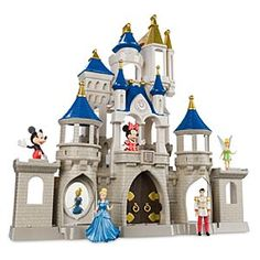 Why wish for a castle in the clouds when your princess can play with this Fantasyland fortress fit for Disney Parks 3 3/4'' figurines? With four levels of imagination, lights and sounds, it's a Cinderella dream come true from Walt Disney World!