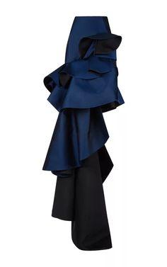 Duchesse Evening Skirt With Tiered Ruffle Detail by Antonio Berardi for Preorder on Moda Operandi