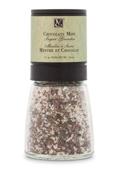 Chocolate Mint Sugar: Every twist creates a unique blend of organic cocoa nibs and cool, refreshing mint. Ideal over hot drinks, yogurt, pancakes, waffles, and desserts. http://michellestevenson.myepicure.com/