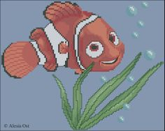 Small Nemo cross stitch pattern