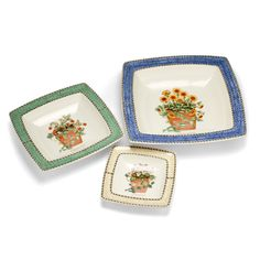 Wedgwood - Sarah's Garden Sweet Dish Set 3pce Sarah's Garden, Dish Sets, Wedgwood, Plates, Ornaments, Sweet, Tableware, House, Licence Plates