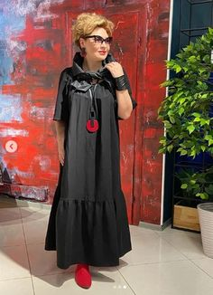 """An overview of great pictures in the style of """"Boho"""" that fit women with any type of figure, weight and size - Dresses for Women 50 Fashion, Fashion Images, Plus Size Fashion, Fashion Dresses, Fashion Looks, Womens Fashion, Woman Dresses, Nice Dresses, Casual Dresses"""