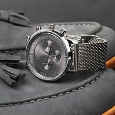 The Kinsale silver chronograph. www.Grandfrank.com