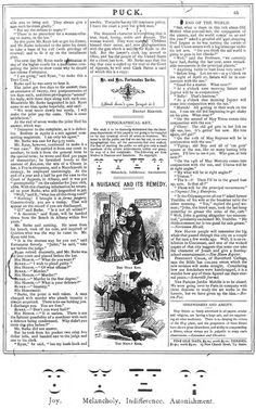 Apparently emoticons are nothing new: Puck magazine, 30 March 1881