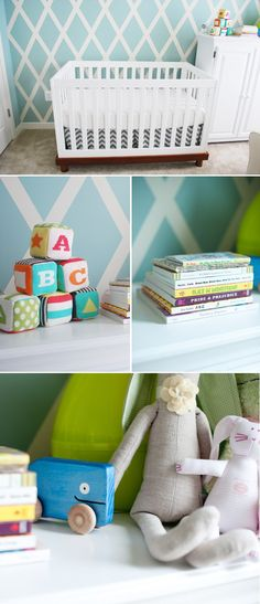 This gender-neutral nursery is so full of pattern and color and it's so inspiring!