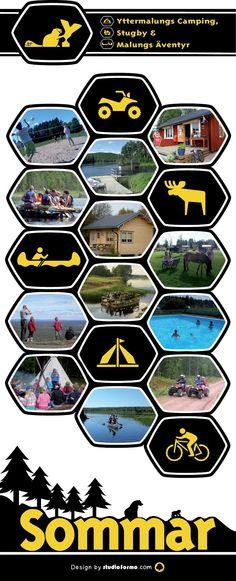 Swedish summer, banner design for an adventure sports camping. Svenska sommar äventyr.