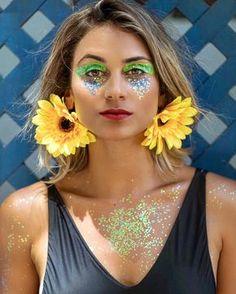 glitter | brincos de girassol | Carnaval