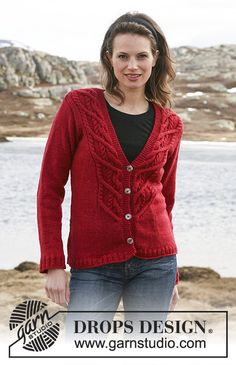 "e6cefb1a3d86f6 Ravelry  Jacket with cables in ""Karisma Superwash"" pattern by DROPS design  - free pattern"