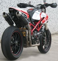 Hypermotard, with modified exhaust.