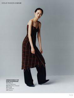 ASIAN MODELS BLOG: EDITORIAL: Jing Wen for Vogue China, October 2016