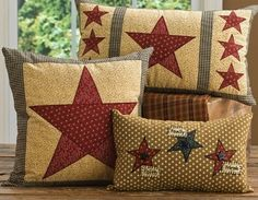 Country Star Pillows | Park Design | Primitive Pillows | Throw ...