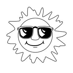 Introduce your kid to the bright sun with these printable sun coloring pages. These pretty sun designs can help your kid explore & learn the solar system. Solar System Coloring Pages, Space Coloring Pages, Summer Coloring Pages, Pattern Coloring Pages, Coloring Sheets For Kids, Coloring Pages To Print, Free Printable Coloring Pages, Free Coloring, Coloring Pages For Kids