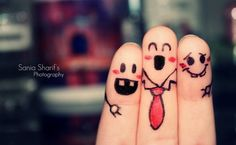 finger art. So cute!