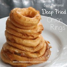 Easy Beer Battered Onion Rings - Chocolate Chocolate and More!