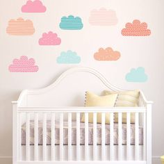 Pastel Clouds Wall Stickers from notonthehighstreet.com