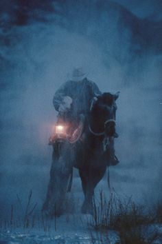 The rancher and his horse find the lost, frightened wee calf on a stormy night and carries it the little thing back....