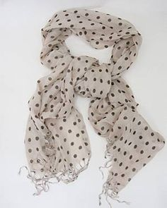 Black and white with a little fringe...polka dots