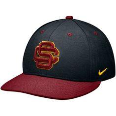 cheaper ed199 03f8f Nike USC Trojans True Authentic Fitted Baseball Hat - Black-Cardinal