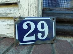 vintage french house number 29.... to add French touch to your home....