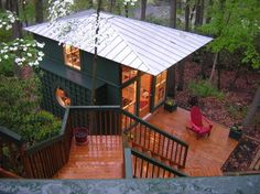 I could live there. Michael Graves Pavilion/ Backyard Office - eclectic - home office - dc metro - The Painted Room Home Office Design, House Design, Studio Design, Cottage Design, Office Style, Tiny Guest House, Guest Cabin, Guest Houses, Cozy Cabin