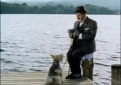 Poirot and Bob (the dog).