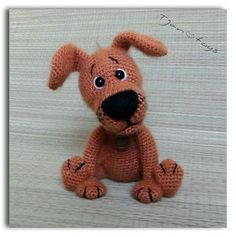 Welpen OOAK Little Dog gefüllt Tiere häkeln Handmade Soft Toy