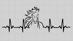 Horse Ekg Vinyl Decal Heartbeat Car Window Decal Mirror Decal Laptop Decal by MichellesVarietyShop on Etsy Car Window Decals, Car Decals, Vinyl Decals, Car Stickers, Laptop Stickers, Mirror Decal, Gifts For Horse Lovers, Horse Drawings, Horse Farms