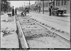 Approaching Toronto from the southwest about a century ago, Roncesvalles Avenue would have been the first well developed north/south strip that one. Historical Photos, Railroad Tracks, Ontario, Vintage Photos, Toronto, Past, That Look, Canada, History